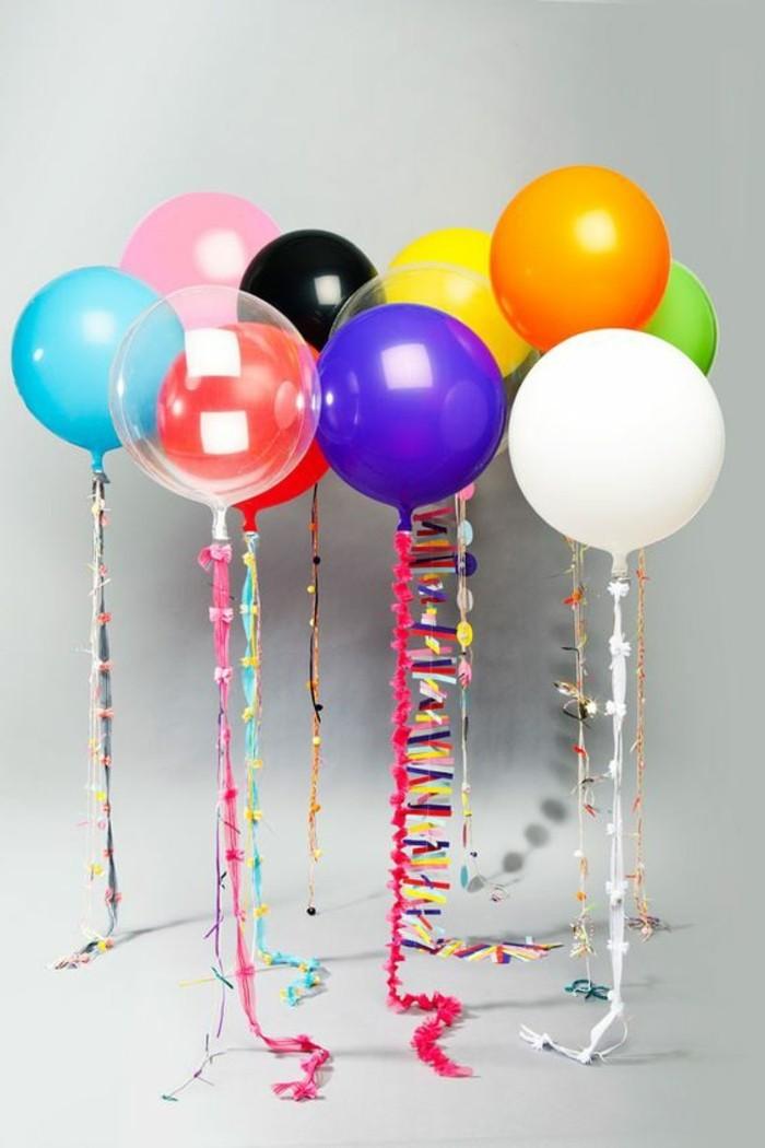 12-bouquet ballons multicolore