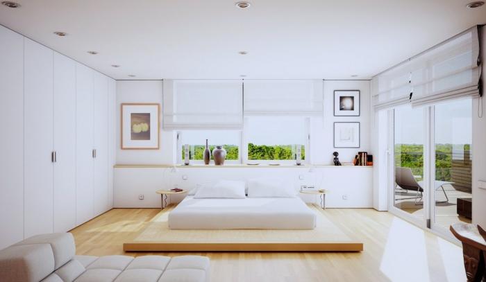 12.idée-de-déco-chambre-adulte-blanche-style-sobre-simple-lit-tables-de-nuit