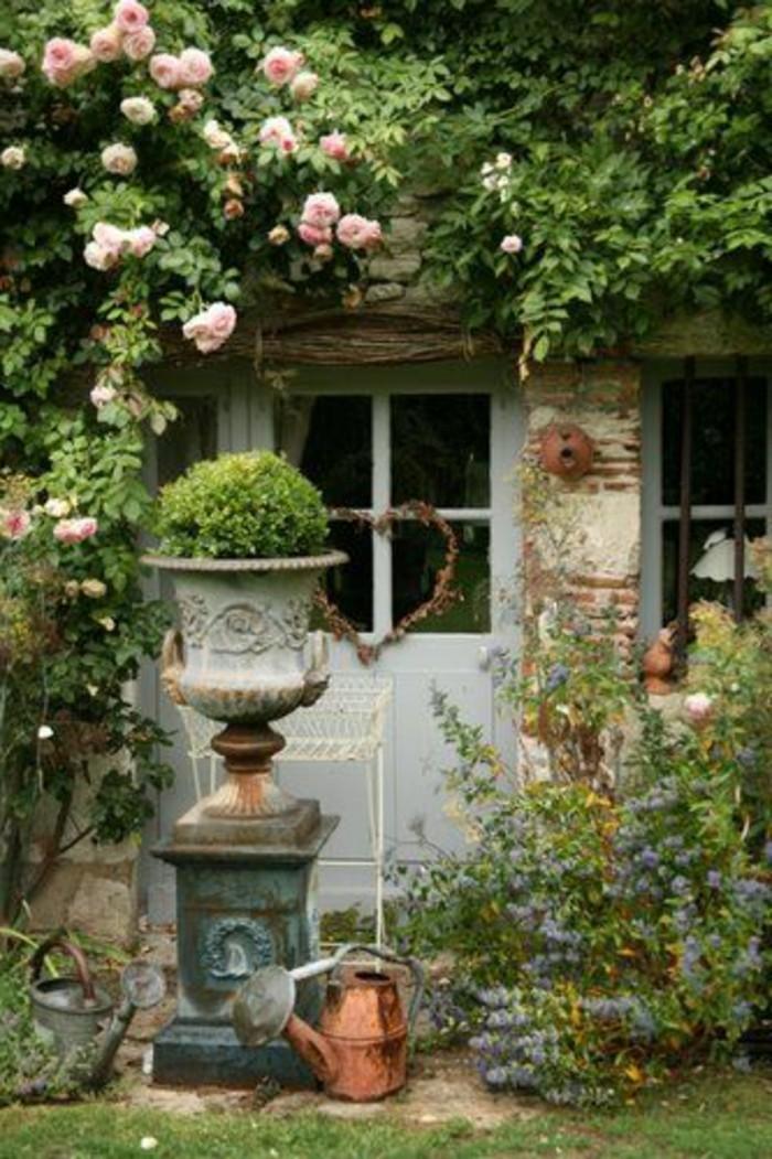 15-Sculpture de jardin deux arroisoirs