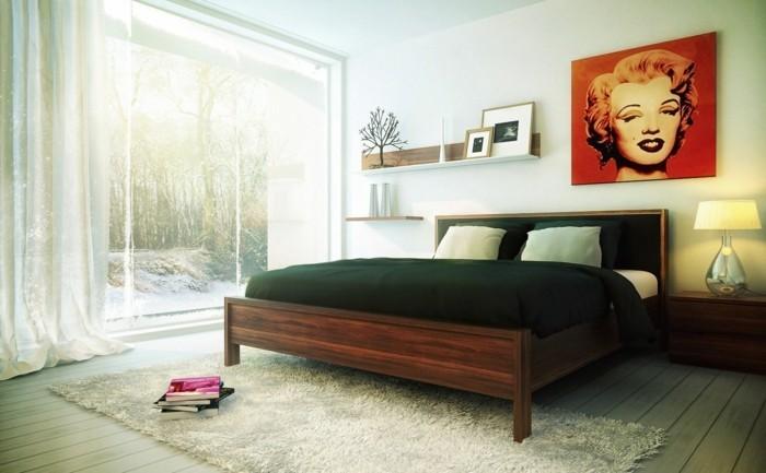15.idée-de-design-chambre-adulte-style-simple-sobre-grand-lit-bois-grandes-fenêtres-lampe-petite-étagère