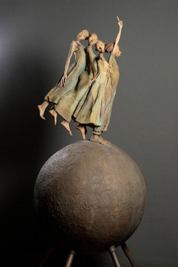 16-Sculpture de jardin figures de denseuses