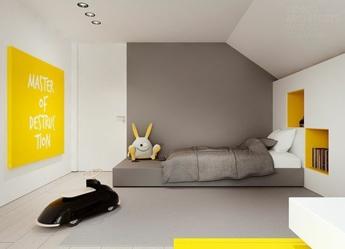 avec quelle couleur associer le gris plus de 40 exemples. Black Bedroom Furniture Sets. Home Design Ideas