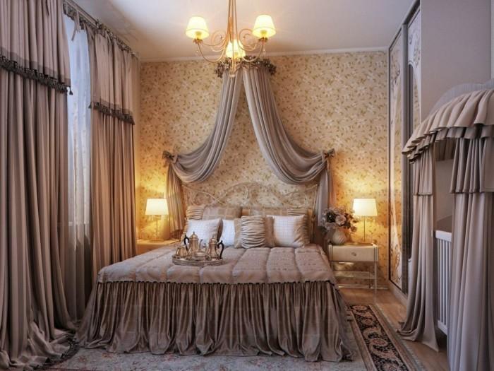 16idée-géniale-chambre-adulte-style-somptueux-jolis-rideaux-couvertures-bruns