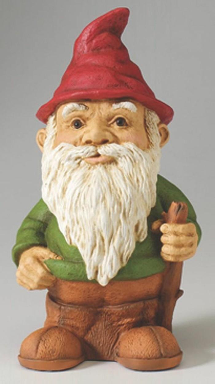 17-Nain de jardin original avec un chapeau rouge