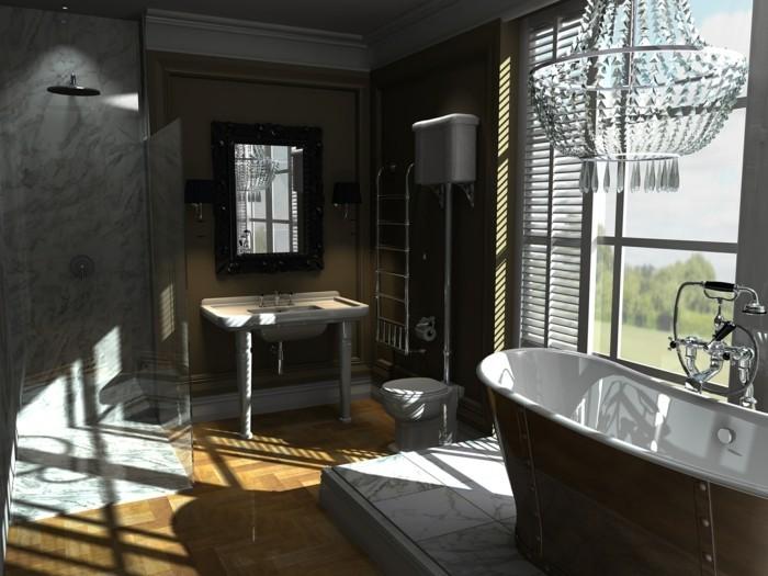 Exemple salle de bains leroy merlin for Parquet teck salle de bain leroy merlin