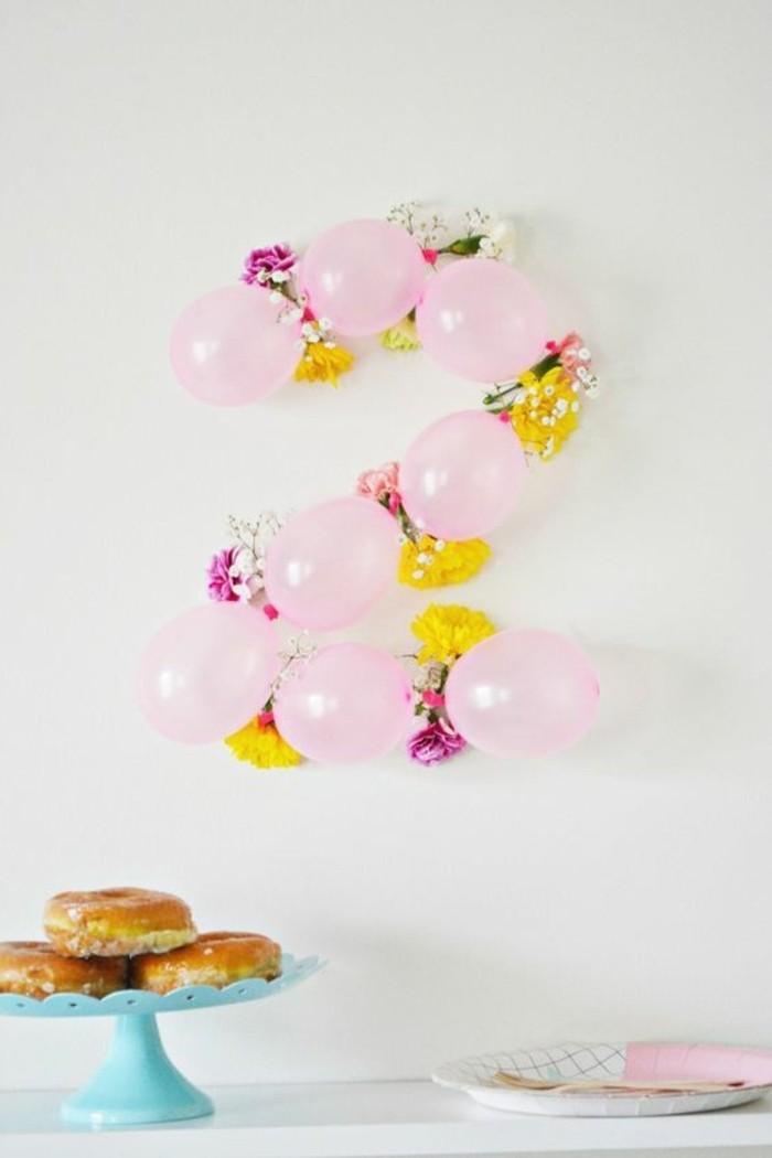 18-guirlande de ballons en forme du chiffre 2