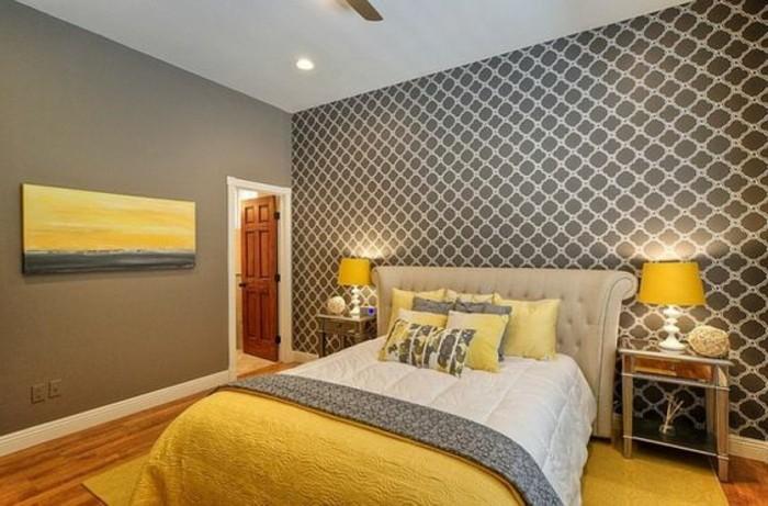 Avec quelle couleur associer le gris plus de 40 exemples for Idee deco chambre gris et jaune