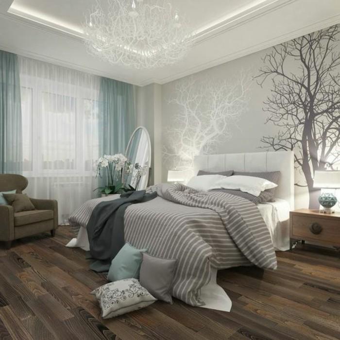 22une-belle-chambre-adulte-très-élégante-déco-motifs-floraux