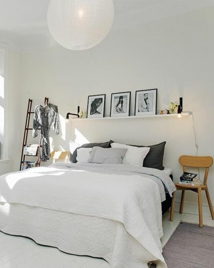 22une-idée-agréable-chambre-adulte-en-blanc-style scandinave
