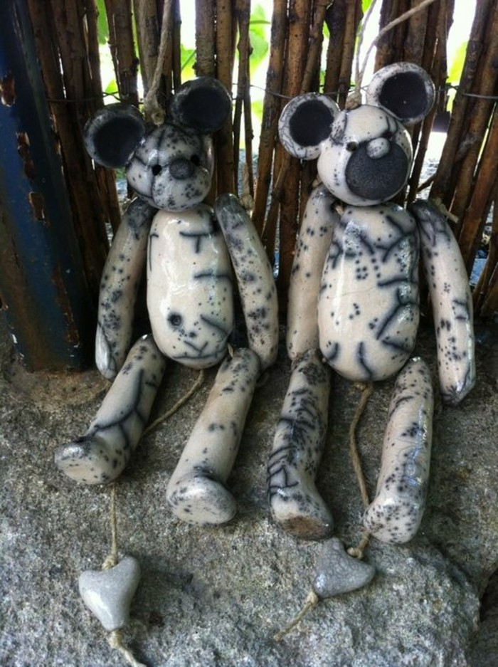 27-Sculpture pour jardin - deux figures animaliers