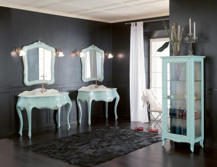 28-Exemple salle de bain en gris fonce et en blanc
