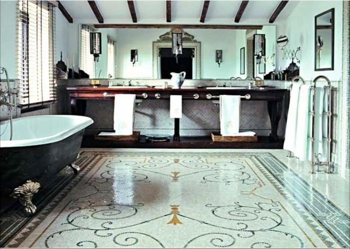 29-Dimension douche italienne en noir et en blanc
