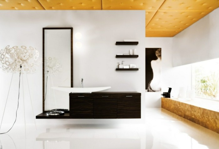 30-Dimension douche italienne en blanc, en beige et en noir