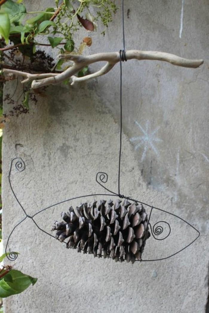 30-Sculpture pour jardin - figure de poisson