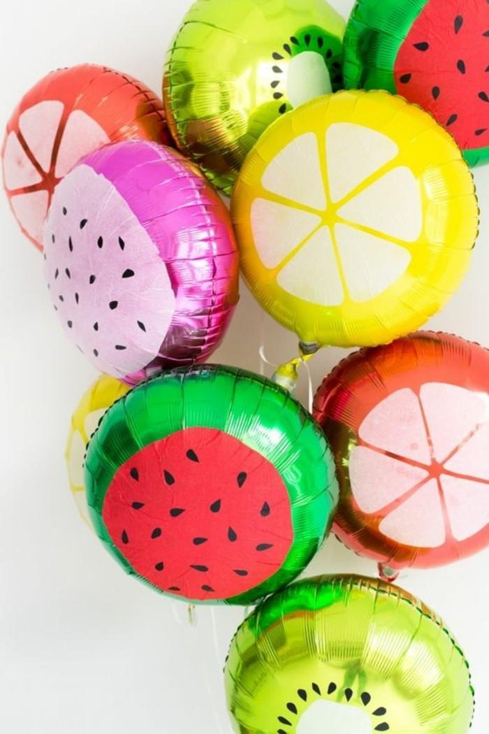 30-guirlande de ballons multicolores