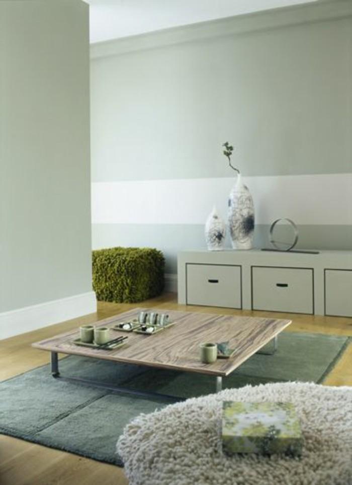 Repeindre une table basse blanc et gris fonce - Peindre une table en bois en blanc ...