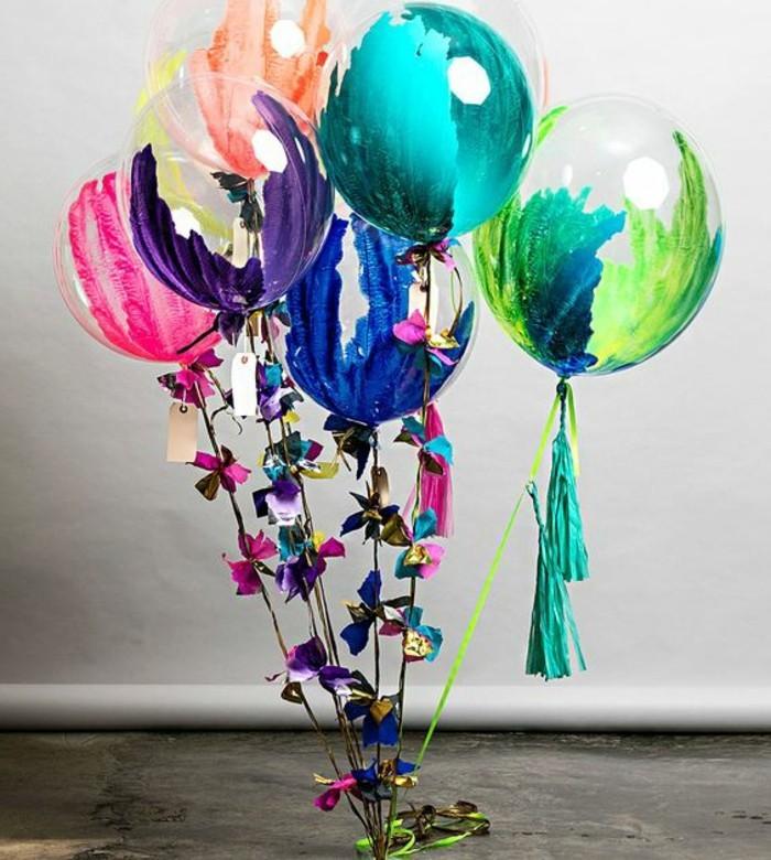 32-bouquet ballons en plusieurs couleurs