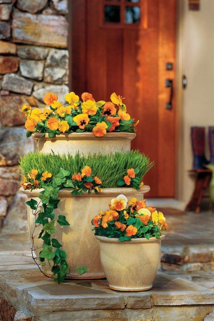 32-entretien de la pelouse - pot de fleurs