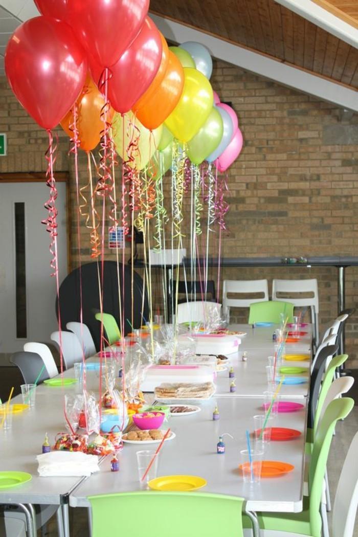 34-décoration ballons sur une table