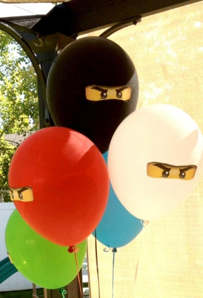 35-bouquet ballons en forme de masques