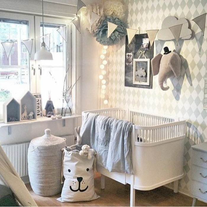 Deco guirlande chambre bebe for Belle chambre adulte