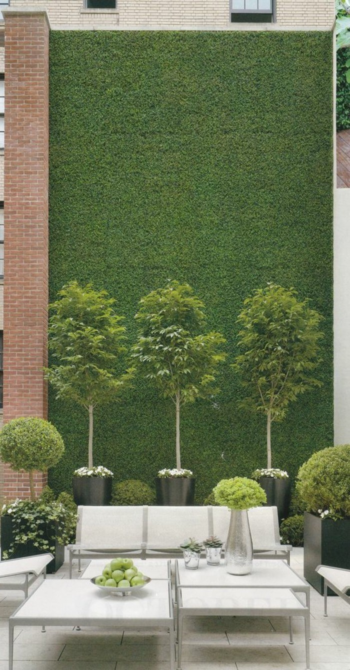 37-entretien du gazon - mur en herbe