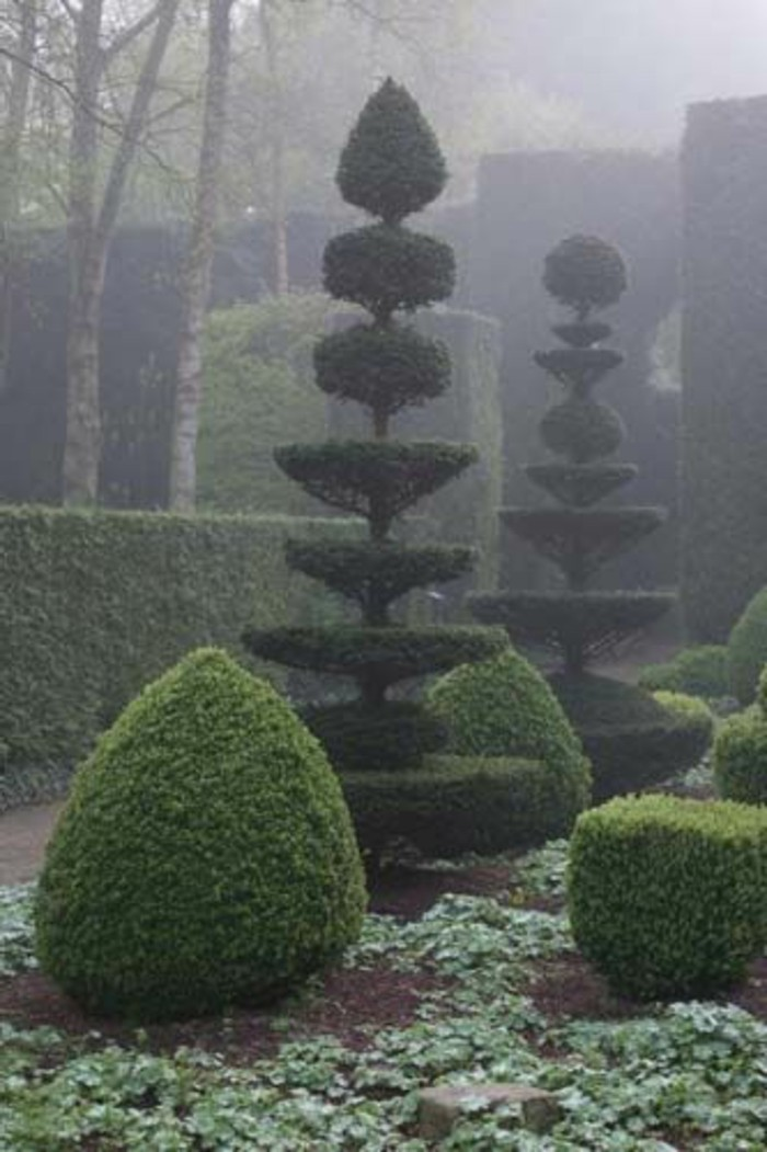 38-Sculpture pour jardin buissons topiaire