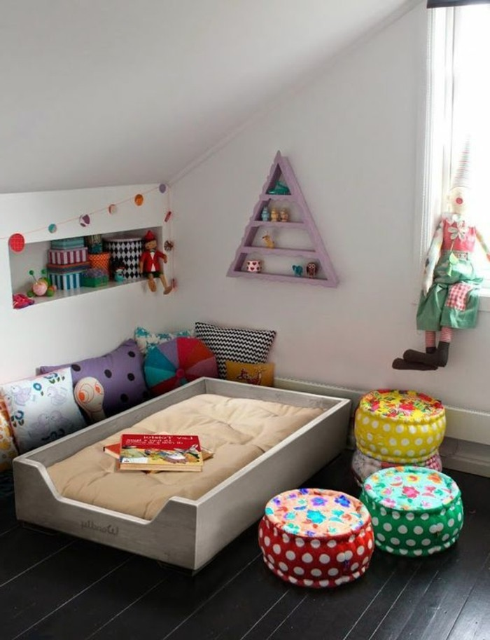 Decoration chambre fille montessori for Chambre montessori