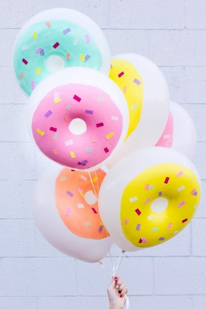 47-ballons d'anniversaire en forme de Donnuts