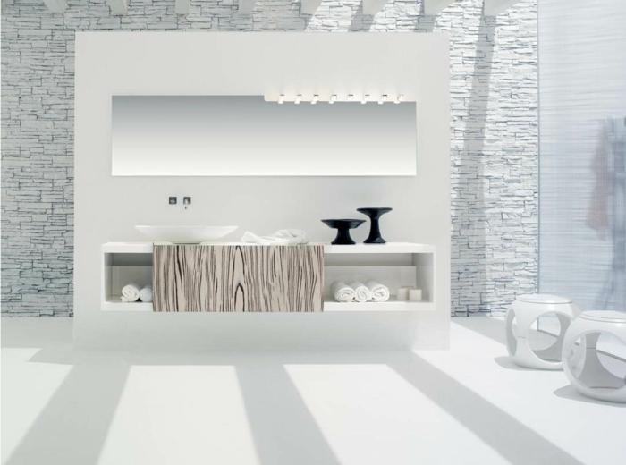 47-modele de la salle de bain en blanc et en gris claire