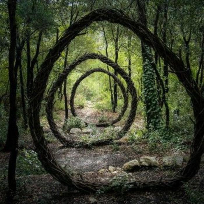 48-Sculpture pour jardin en grands ronds