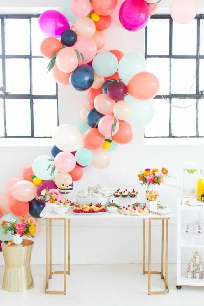 50-guirlande de ballon multicolore