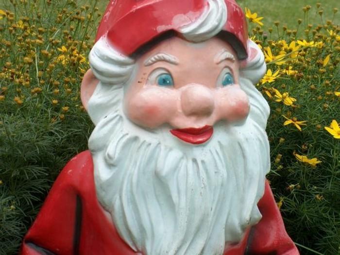 55-Nain de jardin pas cher aux yeux bleus