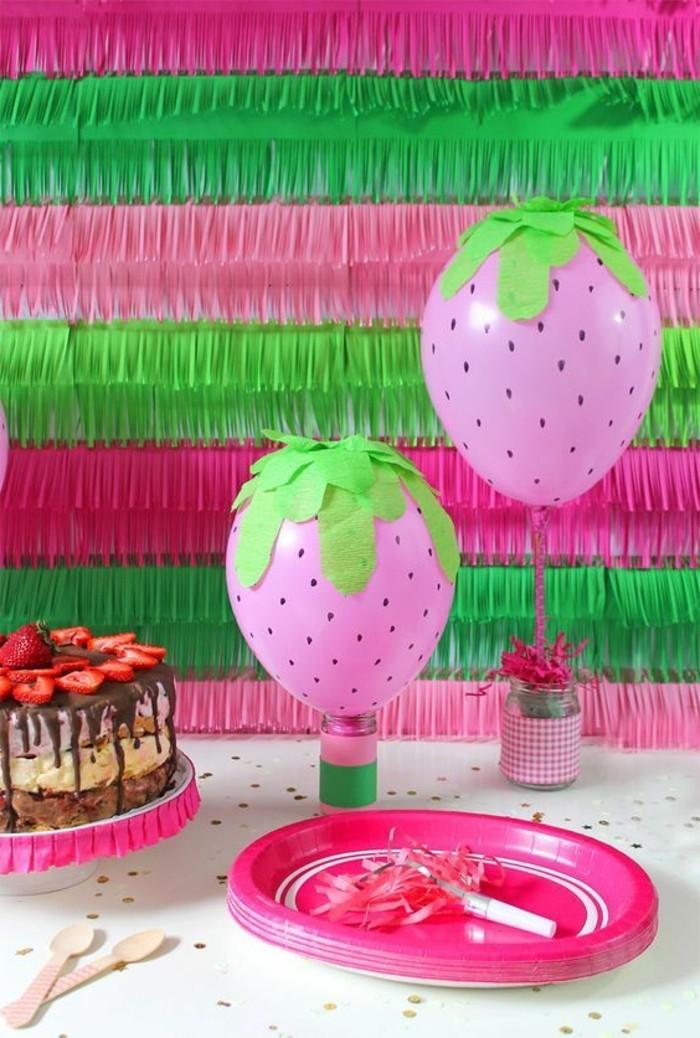 56-decoration ballons en forme de fruits