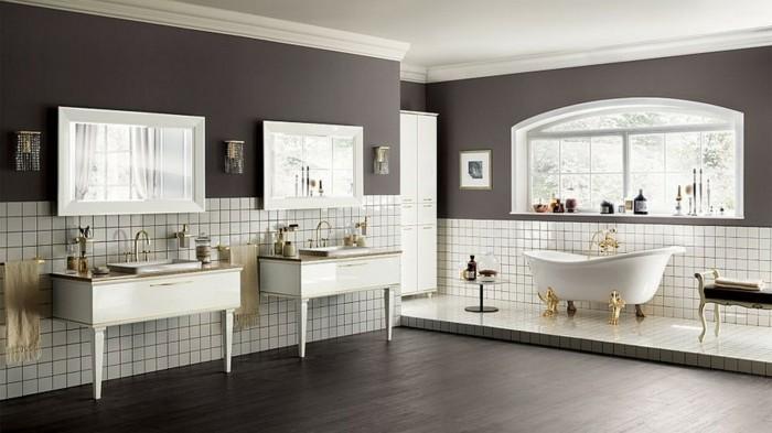 56-faire une douche italienne. Murs et plancher en gris