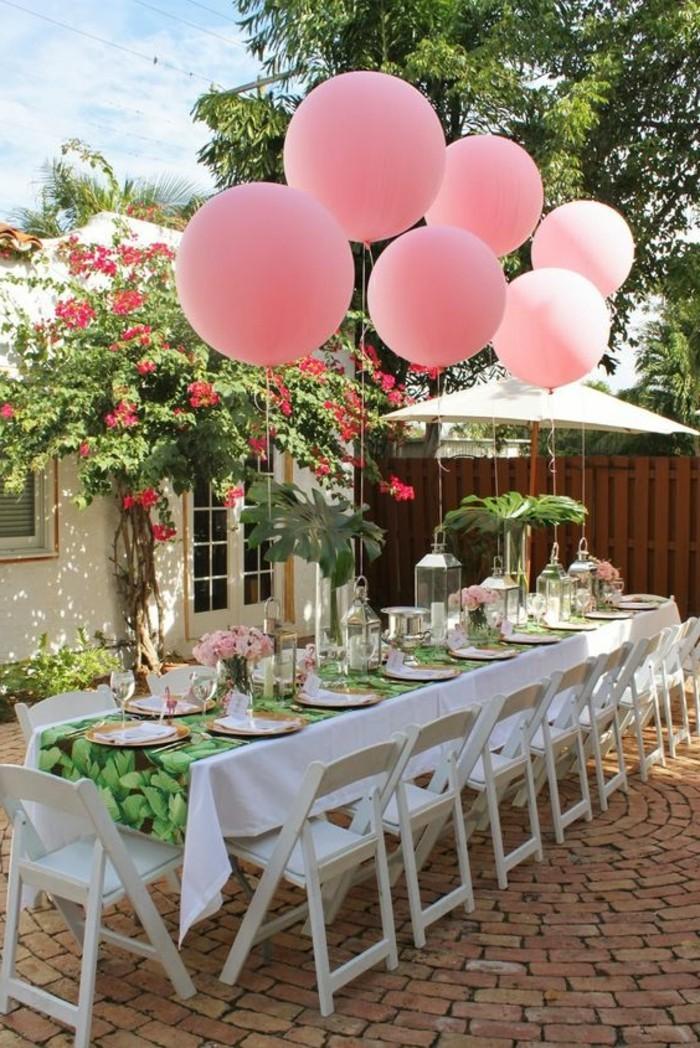 57-ballons pour anniversaire en rose