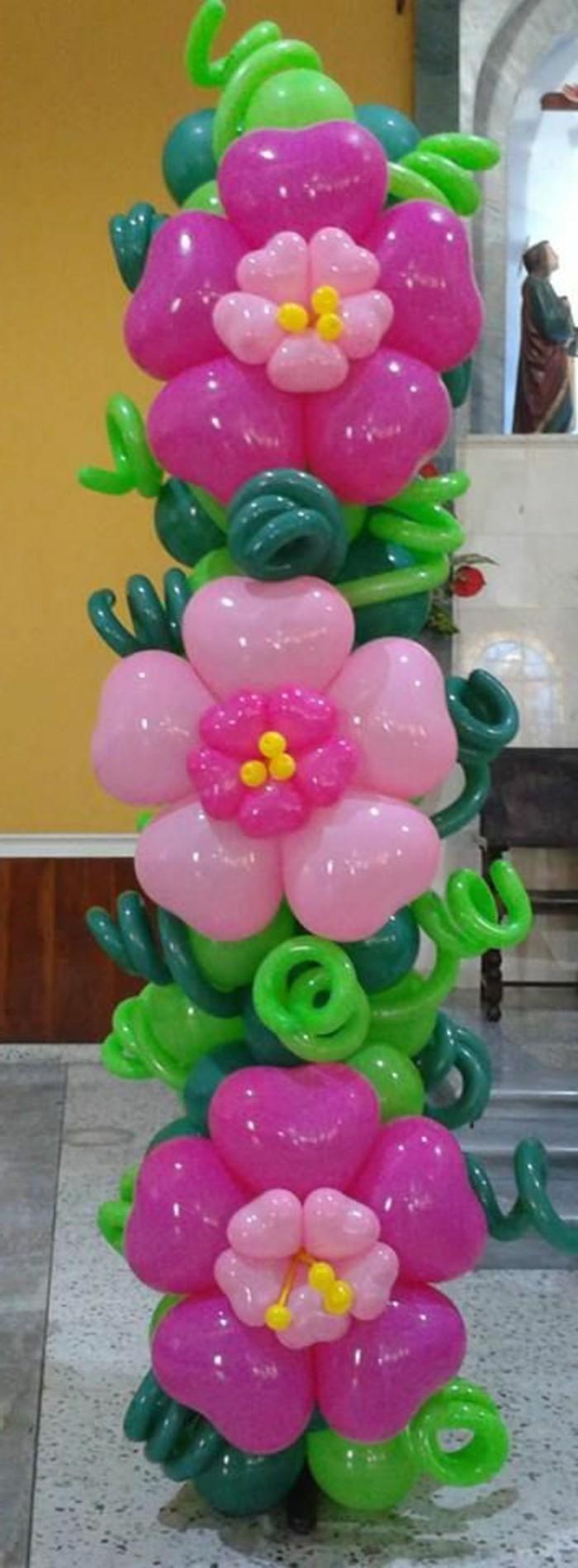 59-guirlande de ballons en fleurs