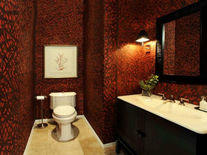 modele-salle-de-bain-moderne-vasque-à-encastrer-meuble-vasque-en-bois-idée-papier-peint-salle-de-bain