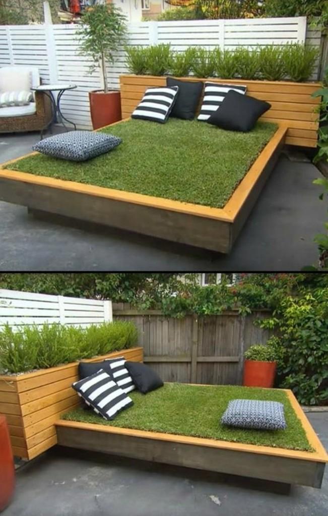 62-entretien d'une pelouse sous la forme d'un lit