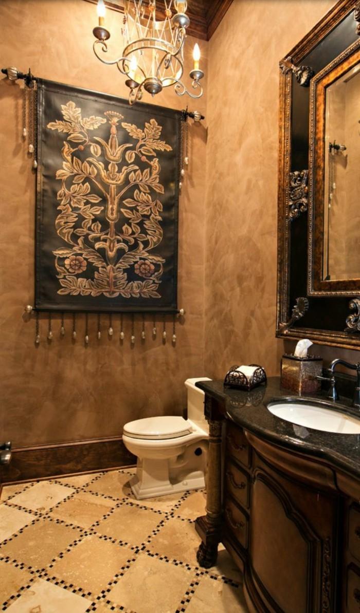 Salle de bain italienne marron avec haute résolution images ...