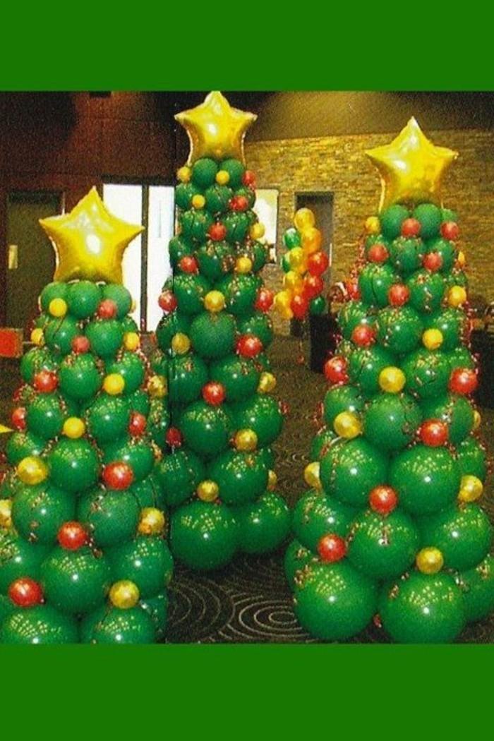 63-decoration ballons en arbres