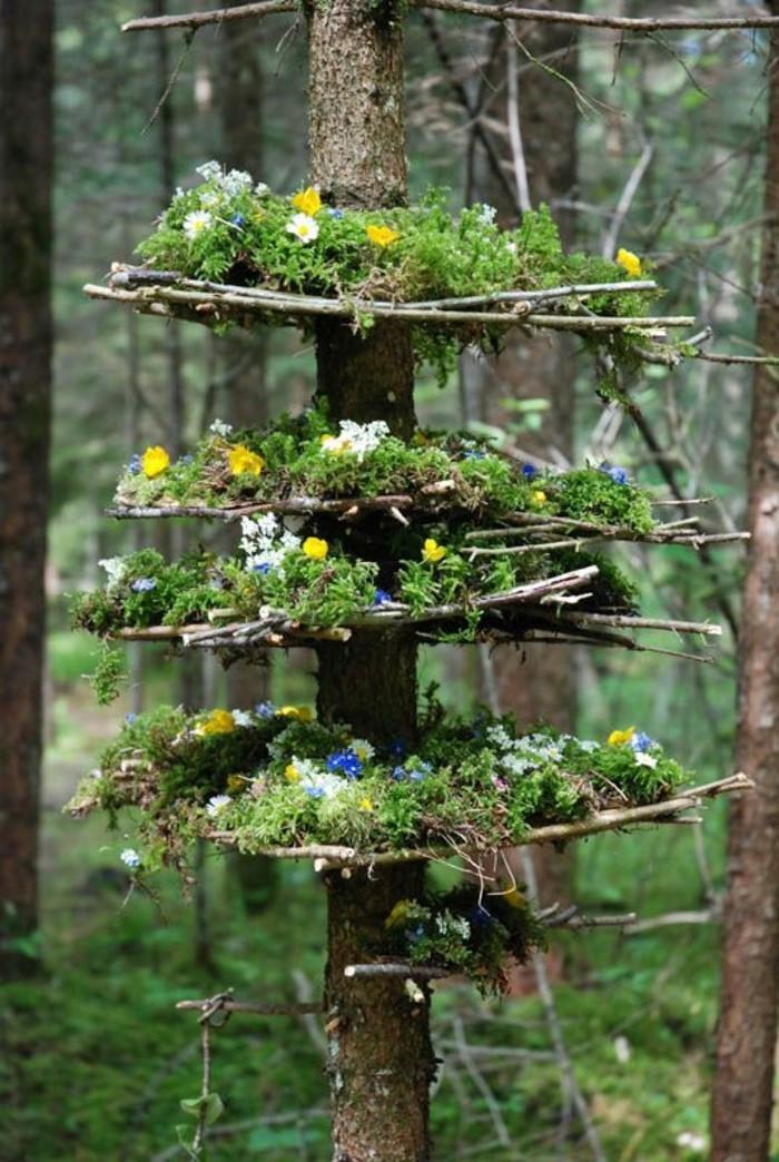 64-Sculpture exterieure design en bois et en verdure