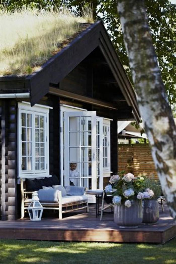 65-entretien d'une pelouse devant une belle maison