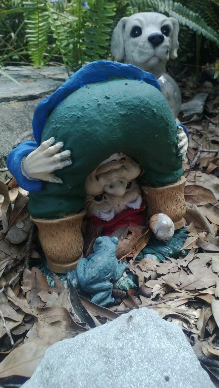 69-achat nain de jardin avec une grenouille