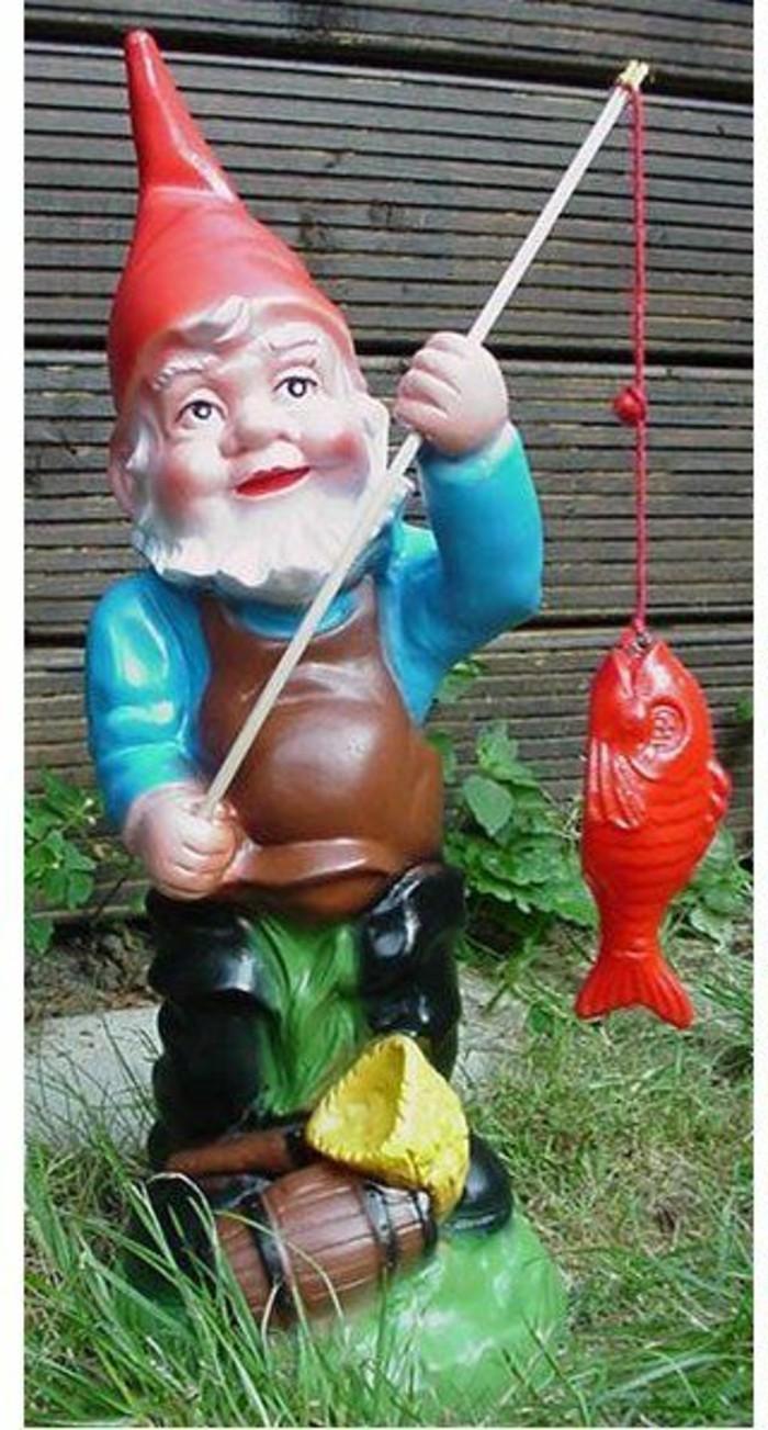 70-achat nain de jardin avec un poisson