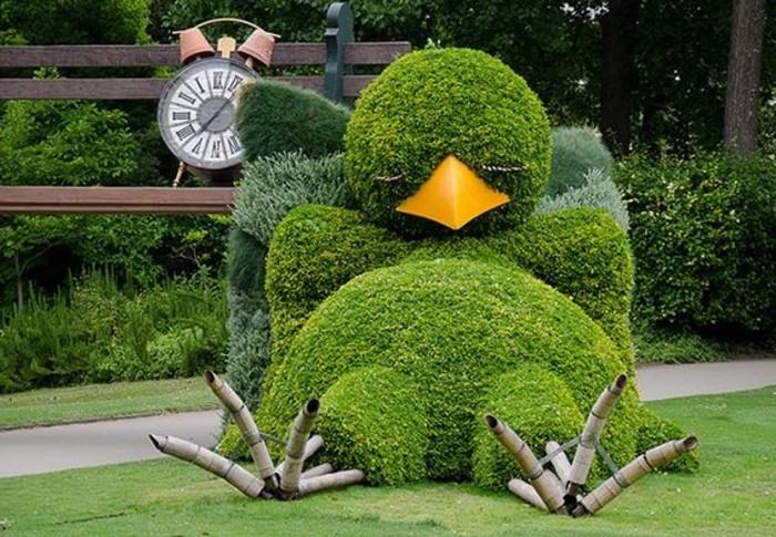 73-Sculpture exterieure design grand oiseau