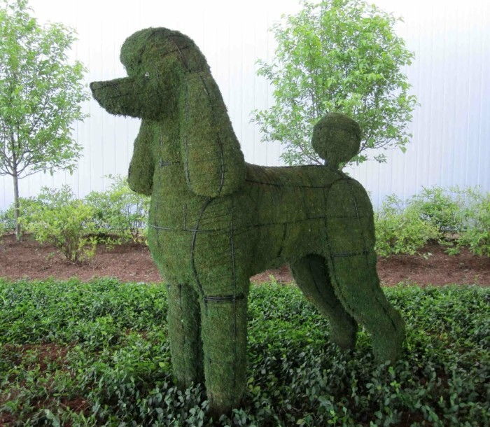 94-Statue jardin figure d'un grand chien