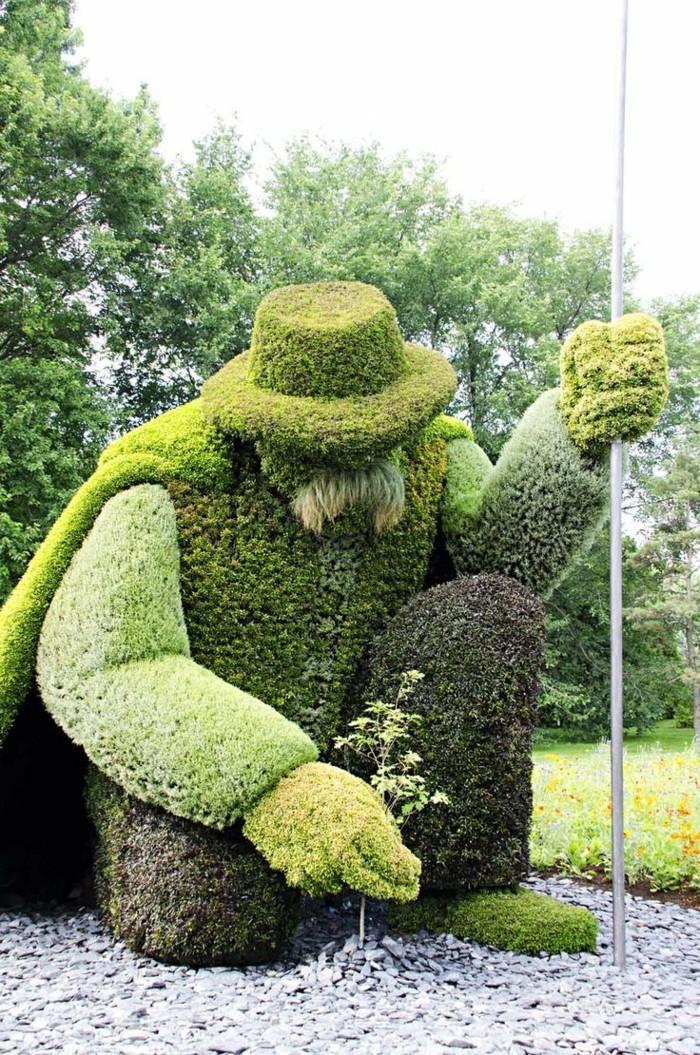 95-Statue de jardin un vieil homme