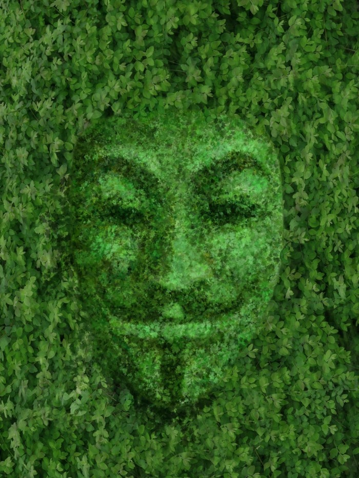 98-Statue de jardin - un visage humain