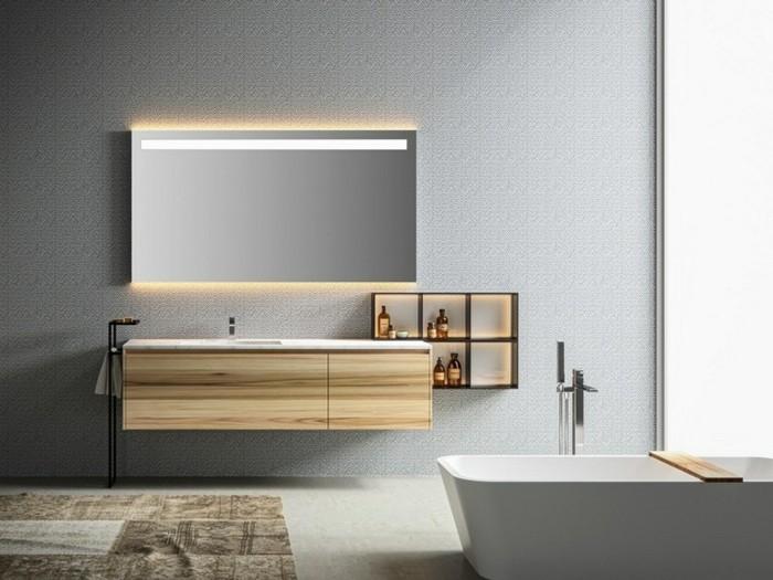 O trouver le meilleur miroir de salle de bain avec clairage - Grand meuble salle de bain ...